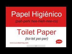 Cómo se dice Papel Higiénico en Inglés = How to say Toilet Paper in Spanish