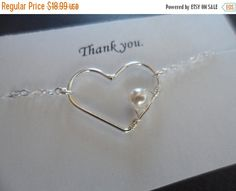 ON-SALE REDUCED  Sterling Silver Heart and by weddingbellsdesigns