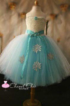 DIY Tutu Dress Tutorial   Elsa of Frozen inspired tutu dress