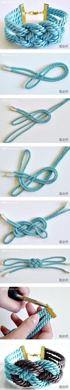 How to make colorful string bracelet step by step DIY instructions / How To Instructions