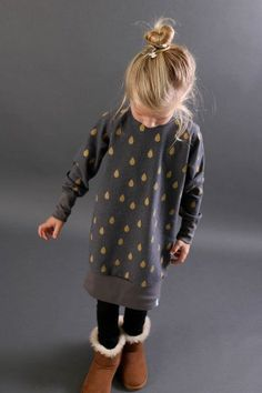 Oversize Pulloverkleid für Kinder - Nähanleitung und Schnittmuster via Makerist.de