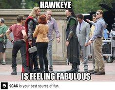 Hawkeye is feeling FABULOUS ! ;)