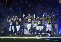 5 @stlouisrams players performing the #HandsUpDontShoot gesture before the #OAKvsSTL game on 11.30.2014. These five players are heroes for doing it. #STLRams #JusticeForMikeBrown #Ferguson