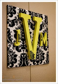 Monogram Wall decor