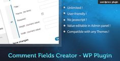 This Deals Custom Comment Field Creator - WP PluginIn our offer link above you will see