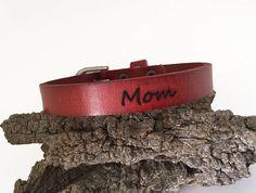 Bracelet en cuir véritable Laser gravé citation préférée