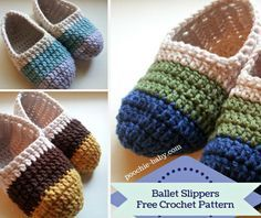 Crochet Loafer Slippers Free Patterns