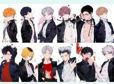 Haikyuu Karasuno, Haikyuu Funny, Haikyuu Fanart, Haikyuu Anime, Kuroo, Kenma, Hot Anime Guys, Anime Love, Hinata