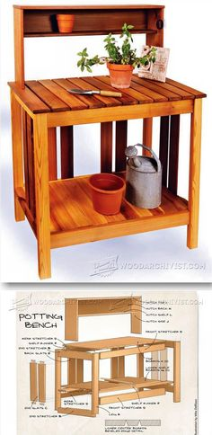 Potting Bench Plans - Outdoor Plans and Projects | WoodArchivist.com