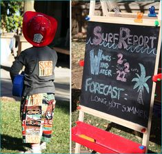 REAL PARTIES: Retro Surfer Birthday