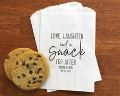 LINED Wedding Favor Bags for Guests - Wedding Cookie Bags, Candy Bar Bags, Donut Bags, Dessert Bags - Wedding Treat Bags for Guests Best Wedding Favors, Wedding Welcome Bags, Wedding Favor Bags, Wedding Candy, Wedding Ideas, Wedding Donuts, Wedding Cookies, Personalized Favors, Personalized Wedding
