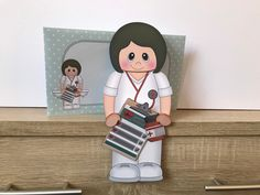 Excited to share this item from my #etsy shop: Female doctor/nurse/hca, brown hair, birthday card, get well, thank you, congratulations, 3d on the shelf card and envelope Purchase Card, Handmade Envelopes, Female Doctor, Folded Up, Get Well, All Design, Brown Hair, New Baby Products, Birthday Cards