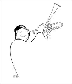 DIZZY GILLESPIE Hand Signed by Al Hirschfeld, Limited Edition