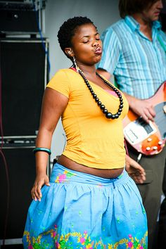 Zolani Mahola, lead singer of South African Afro-fusion band Freshlyground.