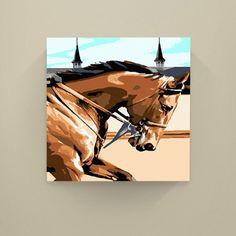 Kentucky Derby Kit: Thundering Downs (Canvas Print) - Easy123Art