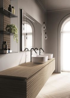 Dolcevita is a collection of bathroom furniture dedicated to those who appreciate a modern, sophisticated bathroom featuring contemporary elegance. White Bathroom Tiles, Minimal Bathroom, Modern Bathroom, Contemporary Bathroom Furniture, Bathroom Pink, White Tiles, Bathroom Colors, Rustic Bathrooms, Dream Bathrooms