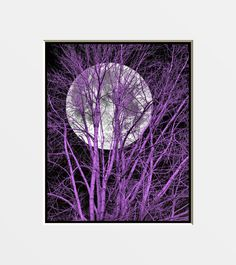 wall art moon art brown art red blue teal ect black white wall art ...