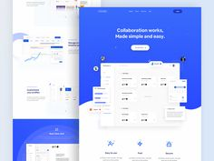 Collaboration Works - Landing Page by Alzea Arafat for RonDesignLab on Dribbble Web Design, App Ui Design, User Interface Design, Visual Hierarchy, Fun Shots, Landing Page Design, Saint Charles, Show And Tell, Design Reference