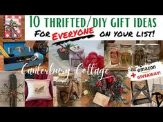 10 DIY/THRIFTED CHRISTMAS GIFT IDEAS FOR EVERYONE ON YOUR LIST - YouTube Diy Christmas Gifts, Christmas Holidays, Trash To Treasure, Bottles And Jars, For Everyone, Bottle Crafts, Homemaking, Craft Gifts, Thrifting