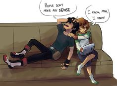 """I want Keith and Pidge to bond over how hard it is to deal with people"" - by trapped-in-cartoon-hell ~~ voltron legendary defender Voltron Comics, Voltron Memes, Voltron Fanart, Form Voltron, Voltron Ships, Voltron Klance, Voltron Force, Samurai, Netflix"
