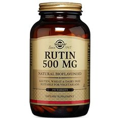 Solgar Rutin Bioflavonoids Tablets 500 Mg 250 Count * Click affiliate link Amazon.com on image to review more details.