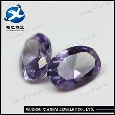 Alibaba Fine Synthetic Industrial Diamond Manufacturing Hot Sales 46# Oval Cut Corundum Synthetic Diamond Price Per Carat