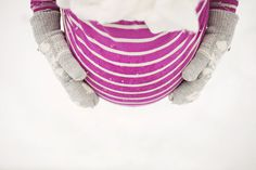 winter maternity shoot she wears all white and grey but her shirt is yellow,purple, red, green any pop color!!