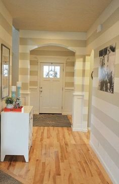 sherwin williams dover white and canvas gray love for my hallway