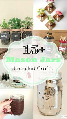 mason jar crafts, glass jar crafts, diy mason jars, upcycled