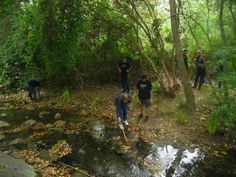 a Riells del Fai, amb la participació de treballadors i treballadores voluntaris de Telefónica. Es van recollir deixalles, netejar grafits i fer una plantació d'helòfits. 4 d'octubre de 2013
