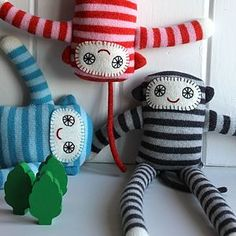 Knitted Lambswool Monkey Long Legs - toys & games