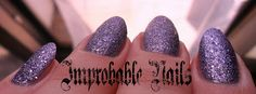 "Improbable Nails: Swatch: BELLAOGGI strass effect 10 ""AMETHYST"""