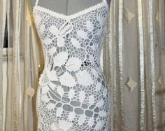 crochet long sleeve beach dress pattern | Sundress, dress, Crochet dress. siz e S . Ready item. ...
