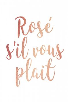 Rosé s'il vous plait | Poster | artboxONE
