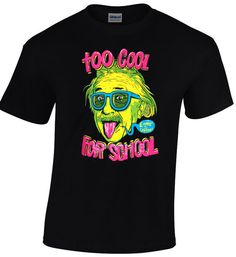 Hello! Check out our new arrivals! Cool tshirts for Cool People! Only from nickcooltshirts! Buy 60 euro of our stuff and get 10% discount! Albert Einstein Too Cool For School E=mc2 Short Sleeve Black T-shirt Maths Cool Geek Nerd Funny Men Top Tee €15.00 https://www.etsy.com/shop/nickcooltshirts?utm_source=outfy&utm_medium=api&utm_campaign=api