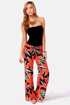 Billabong Gypsy Outlaw Floral Print Pants