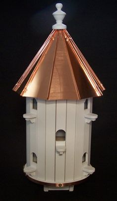 Copper roofed birdhouse!