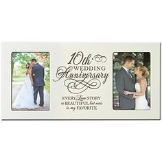 Every Love Story Is Beautiful But Our My Favorite 10th Wedding Anniversary Picture Frame Gift