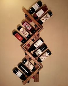 Want to start woodworking but don't know where and how to start? Then check out the link in bio to get access to your very own woodworking projects! The plans are off only for this week! Wood Wine Racks, Wine Rack Wall, Wine Holder For Wall, Bottle Rack, Bottle Holders, Wine Holders, Wood Projects, Woodworking Projects, Woodworking Plans