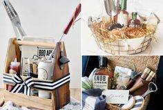 11 Best Gift Basket Ideas For Him Everyone loves to receive a well-curated gift basket – but creating one for a man can be quite di Thank You Baskets, Best Gift Baskets, Gift Baskets For Him, Christmas Gift Baskets, Christmas Gift For Dad, Gift Basket For Men, Fathers Day Gift Basket, Fathers Day Gifts, Diy Gifts For Men