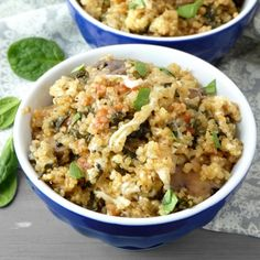 Quick and Healthy Vegetarian Deconstructed-Lasagna Quinoa Bowls