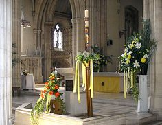 Flowered Paschal Candle