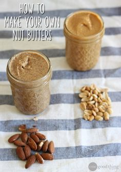"Move over store-bought peanut butter...these DIY nut butter ""recipes"" are tastier, healthier, and less expensive!"
