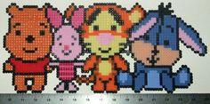 Winnie the Pooh Pooh Piglet Tigger and Eeyore Perler by beadforge, $15.00