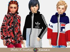 The Sims 4 Giruto 68 hoodie coat for child by studio-k-creation Sims 4 Toddler Clothes, Sims 4 Cc Kids Clothing, Toddler Outfits, Kids Outfits, Toddler Fashion, Girl Fashion, My Sims, Sims Cc, Maxis