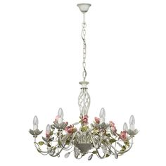 Weißer Kerzen Kronleuchter im Florentiner Stil MW-Light 421012508