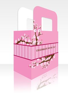 Cherry Blossom - Personalized Bridal Shower Favor Boxes - Check out www.candlesandfavors.com for our amazing line of personalized Cherry Blossom Themed Bridal Shower Invitations, thank you notes and party favors!!!