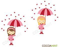 Raining Hearts Clip Art