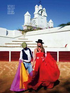 """""""La Doña del Sur"""": Filippa Hamilton in Valencia, Spain, by Pascal Chevallier for Elle Spain"""