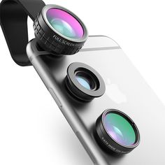Aukey魚眼撮影3インチ1クリップオン携帯電話カメラ180度魚眼レンズ+広角+マクロレンズ用iphone 7プラスxiaomi &より